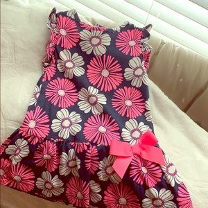 💙4 for $12💙baby floral pink bow carters dress